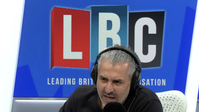 Maajid Nawaz in the LBC studio