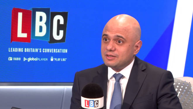 Sajid Javid in the LBC studio