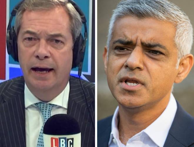 Nigel Farage Sadiq Khan