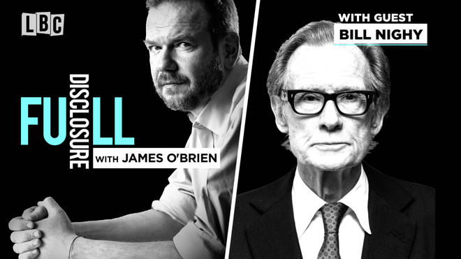 Bill Nighy with James O'Brien
