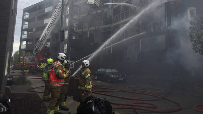 The fire destroyed 20 homes and damaged 10 on Sunday