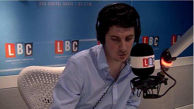 Tom Swarbrick in LBC studio