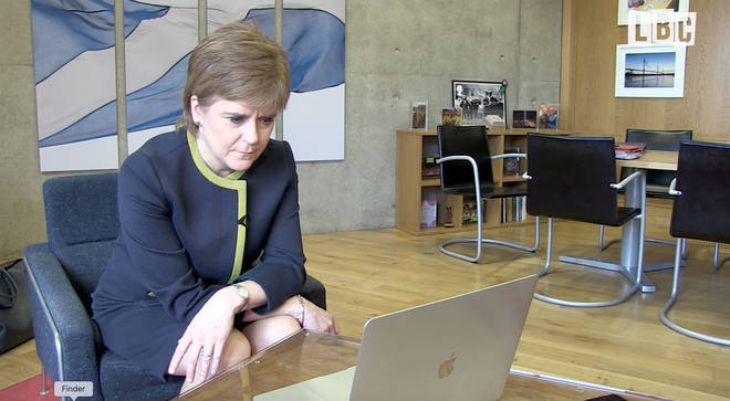 Nicola Sturgeon supported the pair during their trip via FaceTime