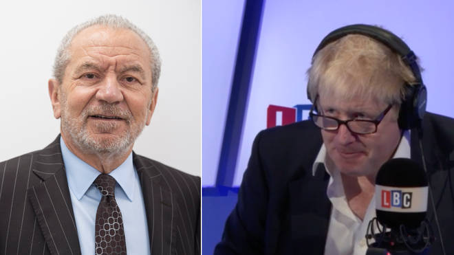 Lord Sugar called Boris Johnson on his LBC show in 2015