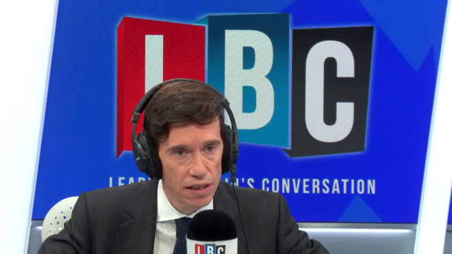 Rory Stewart in the LBC studio