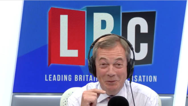 "Nigel Farage grinned when the caller said Rory Stewart was ""vindictive"""