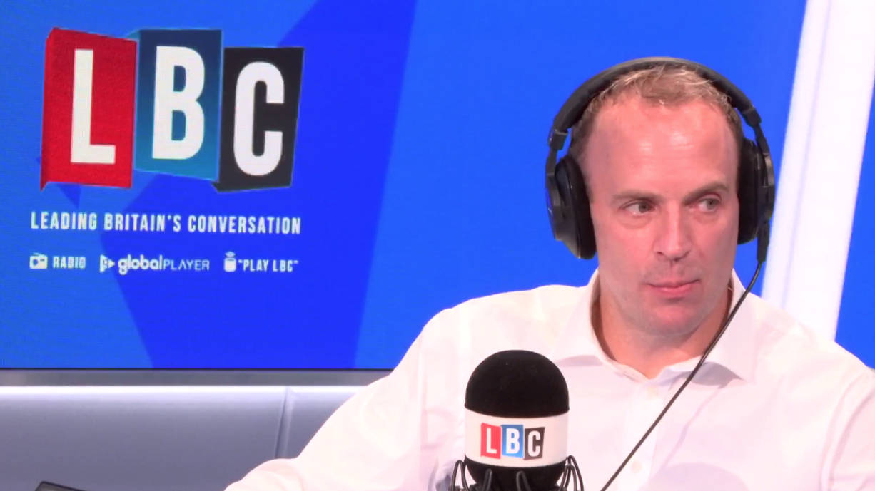 "Dominic Raab Tells LBC It's ""Not True"" He Is Keen On Proroguing Parliament"