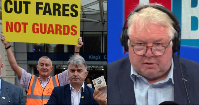 Nick Ferrari had a row with the RMT chief over the train strikes