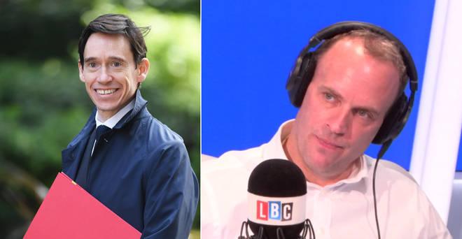 """Dominic Raab hit out at """"rambling"""" Rory Stewart"""