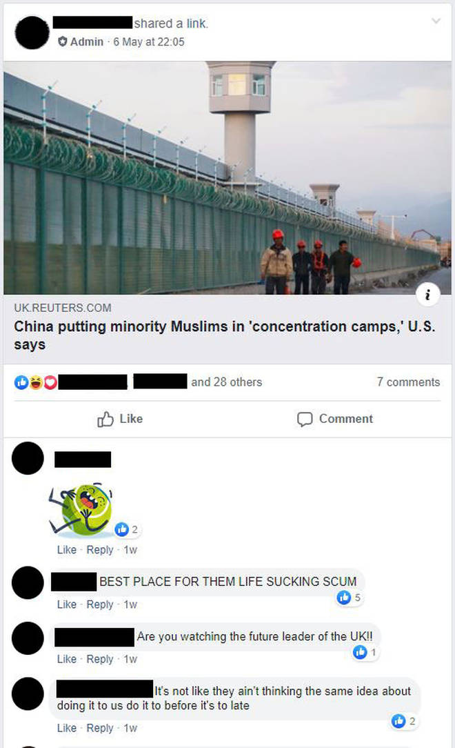 Another example of a far-right post on Facebook