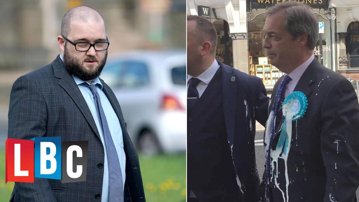 Man Who Threw Milkshake Over Nigel Farage Grilled By Nick Ferrari - LBC Exclusive