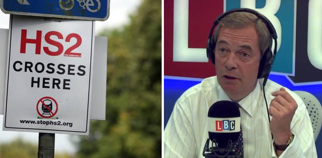 HS2 Nigel Farage