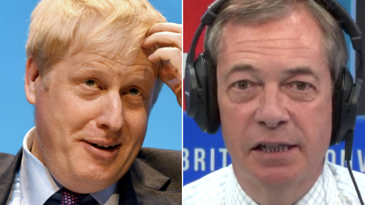 Nigel Farage Tells Boris Johnson How He SHOULD Have Responded To Questions On Police Call-Out