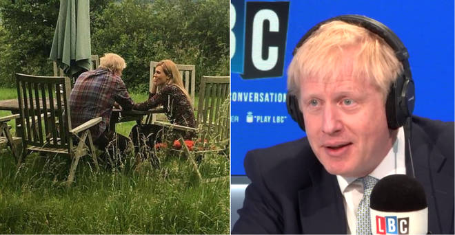 Boris Johnson refused to answer questions about this picture