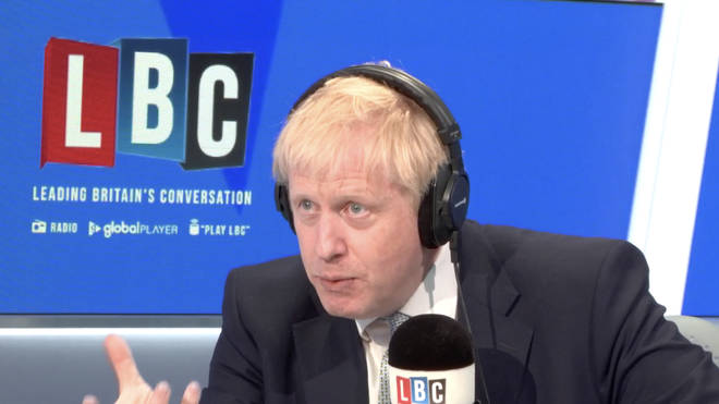 Boris Johnson in the LBC studio