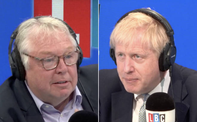Nick Ferrari quizzed Boris Johnson in the LBC studio