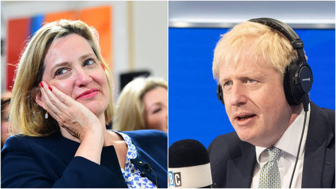 Amber Rudd was giving her views on Tory Party leadership hopeful Boris Johnson