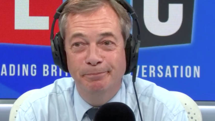 Nigel Farage Gives His Reaction To Boris And His Photo Comments