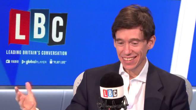 Rory Stewart in the LBC studio