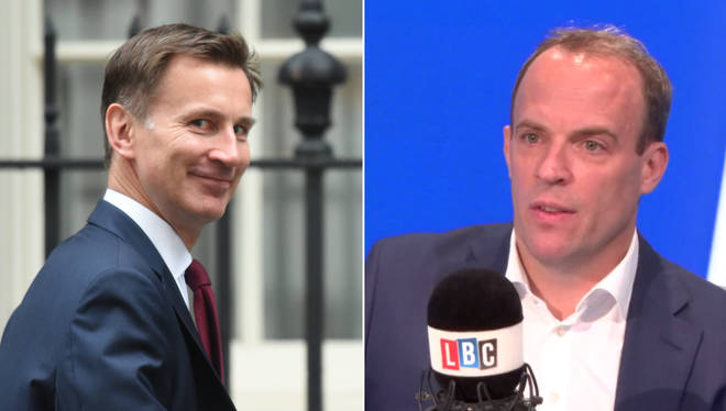 Dominic Raab said Jeremy Hunt would be the EU's preferred candidate