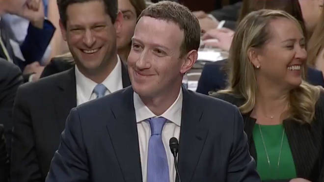 Mark Zuckerberg at the Senate hearing