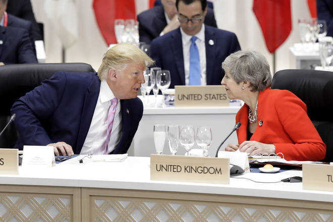 President Trump and outgoing Prime Minister May are attending this year's summit