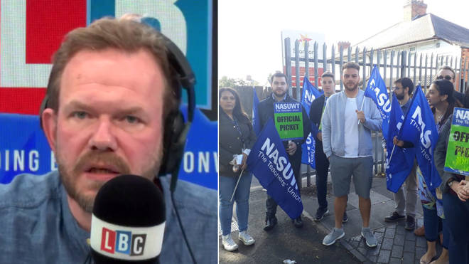 James O'Brien gave his support to the striking teachers