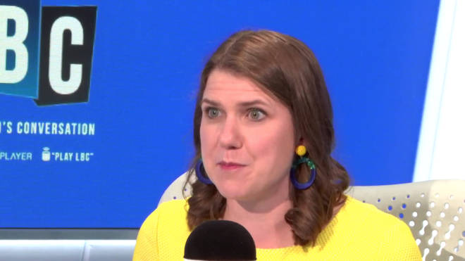 Jo Swinson told LBC she would not go into coalition with a Conservative Party under either Boris Johnson or Jeremy Hunt