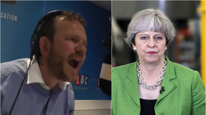 James O'Brien and Theresa May