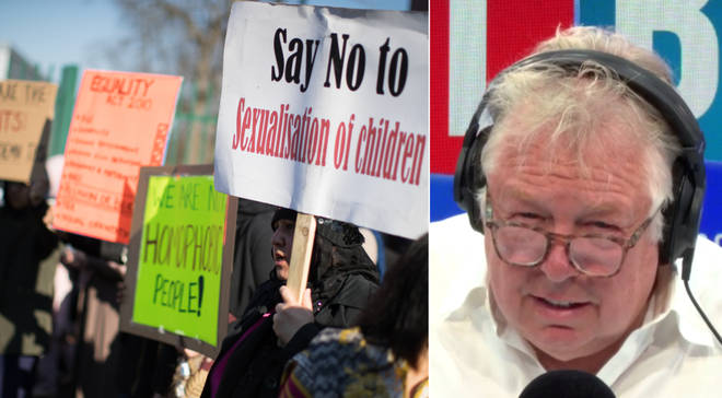Nick Ferrari had a row with the leader of the anti-LGBT lesson protests