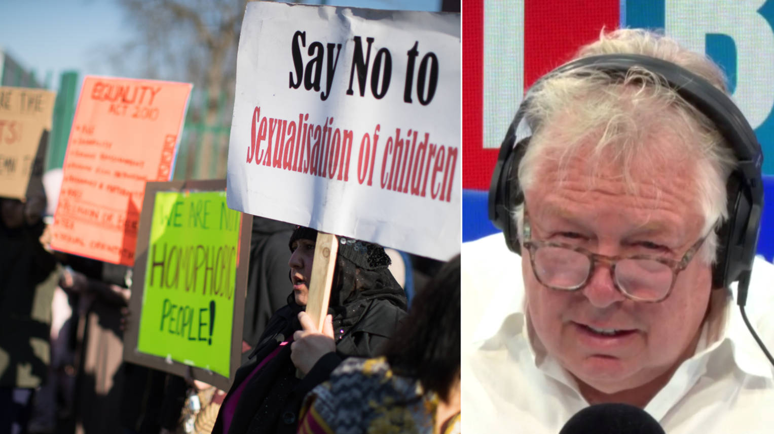 Nick Ferrari Schools Man Leading Protests Against LGBT