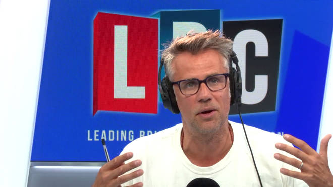 Richard Bacon in the LBC studio