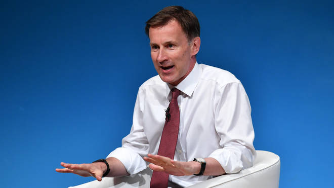 Tory leadership candidate Jeremy Hunt