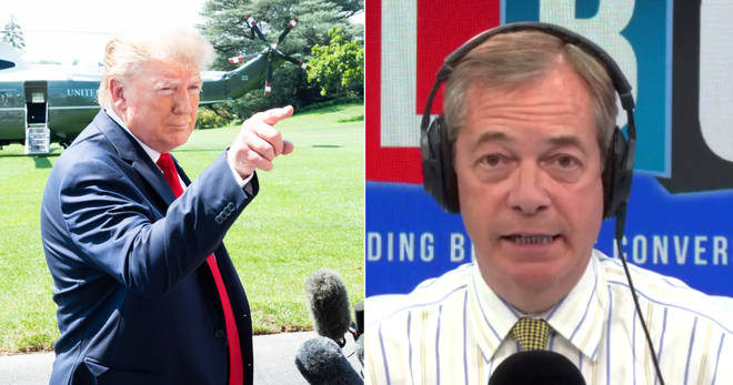 Nigel Farage says the UK's ambassador in Washington should leave