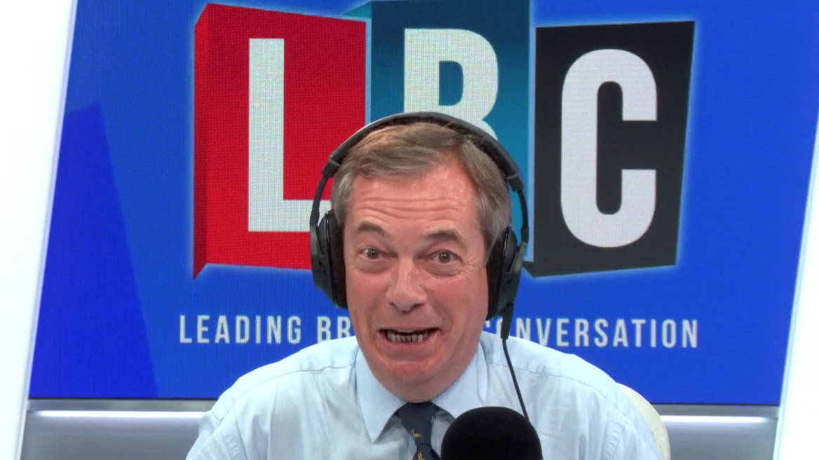 The Nigel Farage Show On LBC: Watch From 6pm