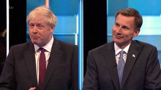 Boris Johnson faced off against Jeremy Hunt