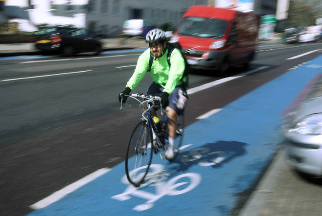 The cycle superhighway in London