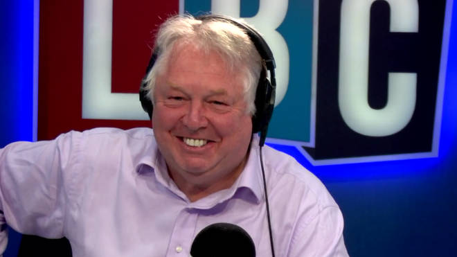 Nick Ferrari found the moment the line cut hilarious