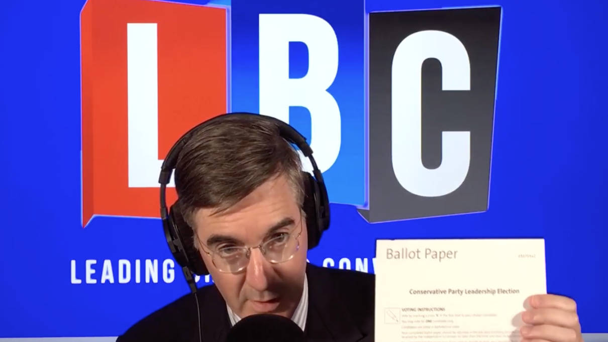 Jacob Rees-Mogg Shows His Second Ballot Paper For Tory Leadership Race