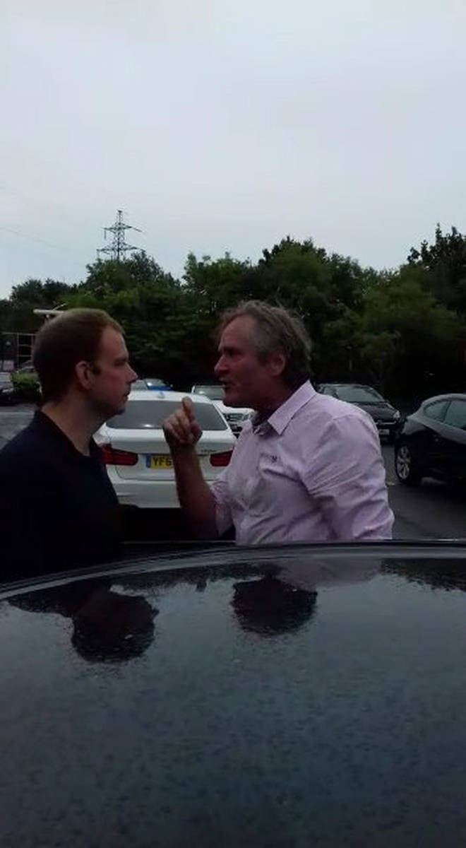 BBC Producer Fergus Beeley shocked a family on Saturday (22/7) when he got out of his car and launched an angry tirade against them Photo: SWNS
