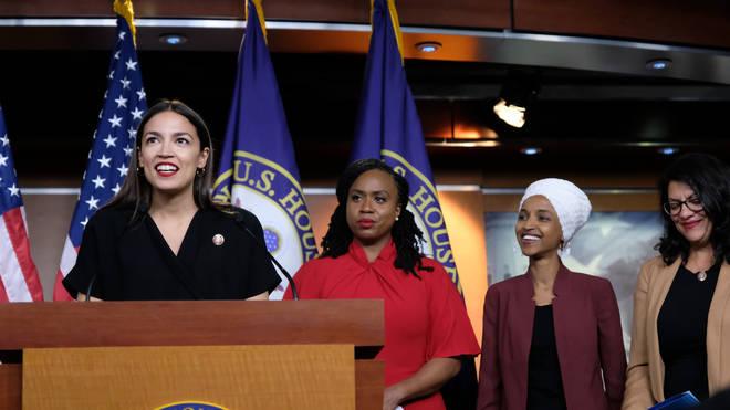 Congresswomen Ocasio-Cortez, Rashida Tlaib, Ilhan Omar, And Ayanna Pressley