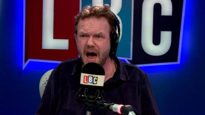 James O'Brien screams in frustration