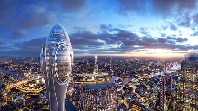 Artist's impression of proposed plans for 'Tulip' tower