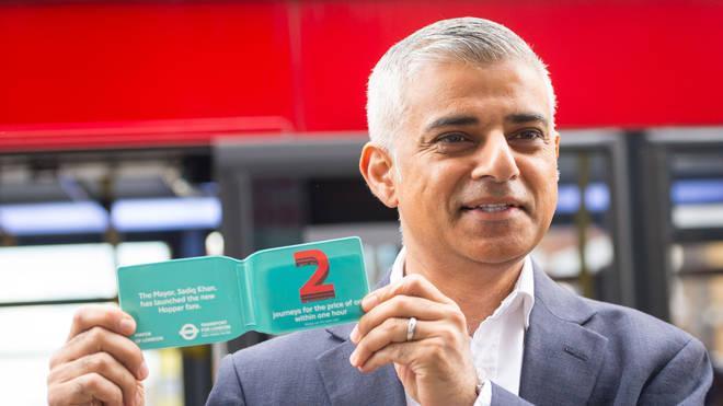 Sadiq Khan launched the new bus hopper fare in 2016