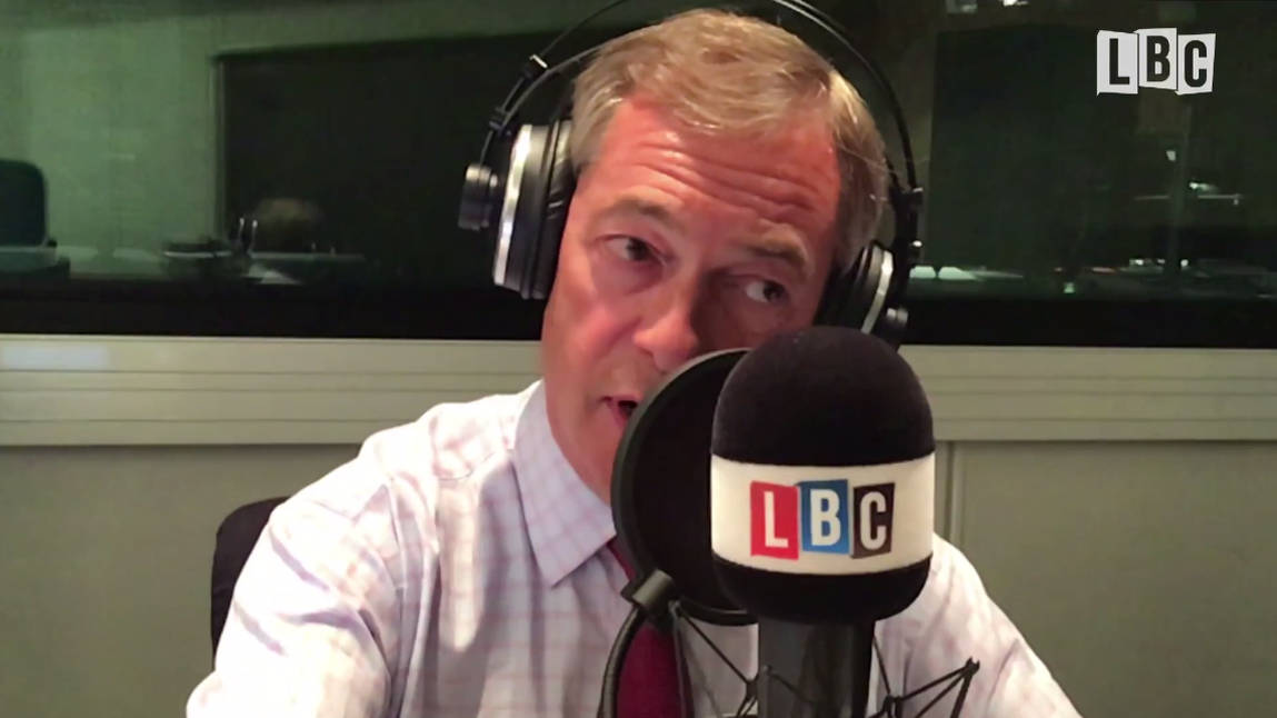 """When Will You Stop Lying?"": Nigel Farage's Furious Row With Caller Over EU Army"