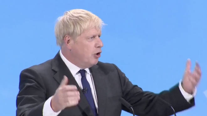 Boris Johnson addressed a crowd of more than 3,000 Tory party members