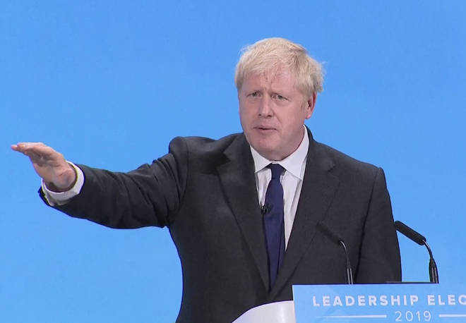 Mr Johnson speaks at the Tory leadership hustings