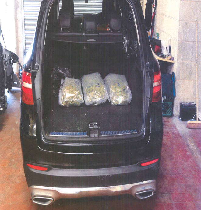 A stolen Mercedes contained £20,000 worth of cannabis