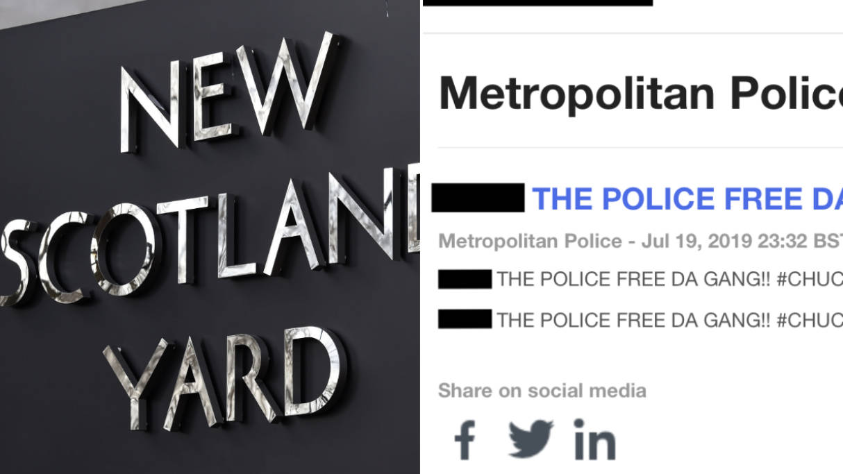 Hackers Post Bizarre And Explicit Messages On Met Police Twitter Account