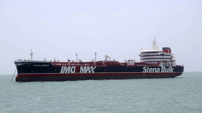 British-flagged oil tanker Stena Impero was seized in the Persian Gulf by the Islamic Revolution Guards Corps.